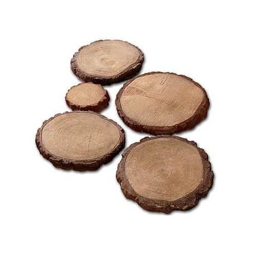 Тротуарная плитка Интеркам Деревянные круги d 42 см Арт 3001